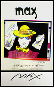 Stamp Signed Art Expo 1981 By Peter Max Retail $450