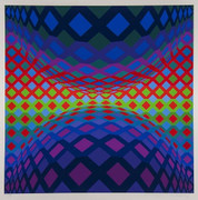 Hand Signed Reech By Victor Vasarely Retail $3.6K