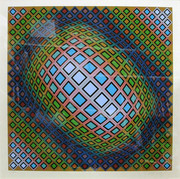 Hand Signed Untitled By Victor Vasarely Retail $5.1K