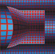 Hand Signed Untitled By Victor Vasarely Retail $3.2K