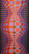 Hand Signed Kaaba III By Victor Vasarely