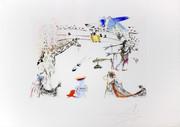 Hand Signed La Girafe En Feu (Burning Giraffe) By Salvador Dali Retail $13K