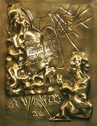 Signed Ten Commandments (Gold) By Salvador Dali Retail $9K