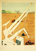Signed Martian Dali With Double Holoelectric Microscope By Salvador Dali Retail $9K