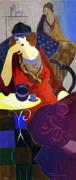 Hand Signed Tired At Tea By Itzchak Tarkay Retail $2.1K