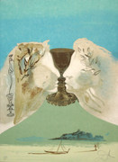 Hand Signed The Chalice Of Love By Salvador Dali