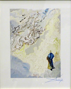 Hand Signed Divine Comedy - The Constellation Of Blessed Spirit By Salvador Dali Framed Retail $5.95K