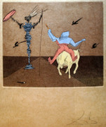 Hand Signed Master and Squire By Salvador Dali Retail $7.6K