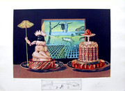 Hand Signed The 'I Eat Gala's By Salvador Dali Retail $3K