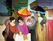 Hand Signed Afternoon Tea by Itzchak Tarkay Retail $38.5K