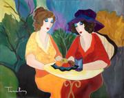 Hand Signed Chatting Ladies by Itzchak Tarkay Retail $24K
