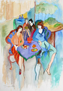 Hand Signed Spring Day In The Cafe by Itzchak Tarkay Retail $6.5K