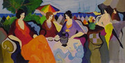 Hand Signed Holiday In Cannes by Itzchak Tarkay Retail $4.5K