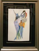 Hand Signed Woman by Itzchak Tarkay Framed Retail $1.55K