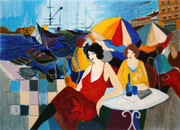Hand Signed Harbour Cafe- The Aristo by Itzchak Tarkay Retail $1.55K