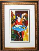 Hand Signed Charlena At Tea by Itzchak Tarkay Framed Retail $1.275K