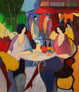 Hand Signed Cafe Bistro by Itzchak Tarkay Retail $1.15K