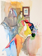 Hand Signed Quiet Afternoon by Itzchak Tarkay Retail $455