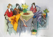 Plate Signed Three Women by Itzchak Tarkay Retail $820