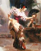 Signed Spanish Dancer By Pino Retail $3K