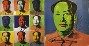 Hand Signed Mao (Portfolio of 10) Invitation By Andy Warhol Retail $9K