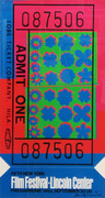 Hand Signed Lincoln Center Ticket By Andy Warhol Retail $9.5K