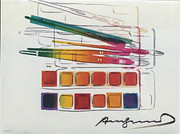 Signed Watercolor Paintkit With Brushes FS II.288 By Andy Warhol Retail $12.75K