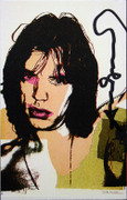 Hand Signed Mick Jagger (Invitation) 4 By Andy Warhol Retail $4.95K
