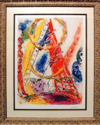 Untitled (From Le Cirque) By Marc Chagall Framed Retail $3.5K