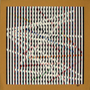 Hand Signed Untitled III By Yaacov Agam Retail $1.5K