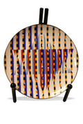 Plate Of Dedication By Yaacov Agam Retail $1.7K