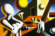 Hand Signed Navigating The Infinite By Mark Kostabi Retail $10.4K
