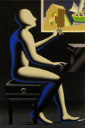 Hand Signed The Architecture Of Sound By Mark Kostabi Retail $10.4K