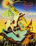 Hand Signed Be Sharp By Mark Kostabi Retail $10.4K