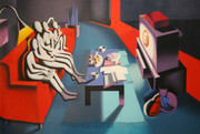 Hand Signed I Am Unsure By Mark Kostabi Retail $1.95K
