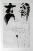 Hand Signed Beau Gentilhomme Espagnol Et Femme À Barbe (B. 1743) By Pablo Picasso Retail $20K