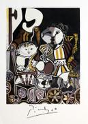 Plate Signed Deux Enfants Assis by Pablo Picasso Retail $150