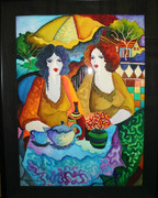 Hand Signed Tea Time For Two By Patricia Govezensky