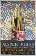 Jasper Johns Whitney Museum Exhibition Poster By Jasper Johns Retail $1K