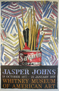 Jasper Johns Whitney Museum Exhibition Poster By Jasper Johns Retail $1K