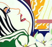 Bedroom Face With Orange Wallpaper By Tom Wesselmann Retail $29K