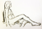 Monica Sitting, One Leg On The Other By Tom Wesselmann Retail $16K
