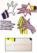 Hand Signed Study Of Hands (Corlett 191) By Roy Lichtenstein Retail $28K