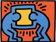 Pop Shop VI (2) By Keith Haring Framed Retail $10K