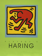 Playboy Poster (Green) By Keith Haring Framed Retail $400.00