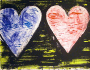 Hand Signed Two Hearts At Sunset By Jim Dine Retail $11.5K