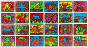 Hand Signed Retrospect By Keith Haring Retail $275K