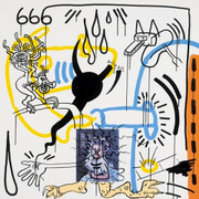 Hand Signed Apocalypse VIII By Keith Haring Retail $18K