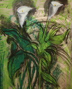 Hand Signed Calla Lilies, Verona I By Jim Dine Retail $9K