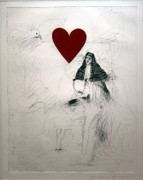 Hand Signed Girl & Dog By Jim Dine Retail $6K